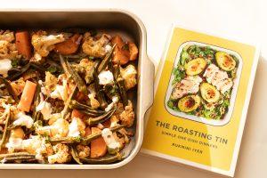 Roasted vegetables roasting tin