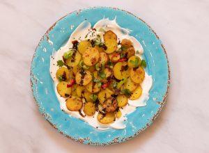 תפוחי אדמה עם צ'אט מסאלה של אוטולנגי