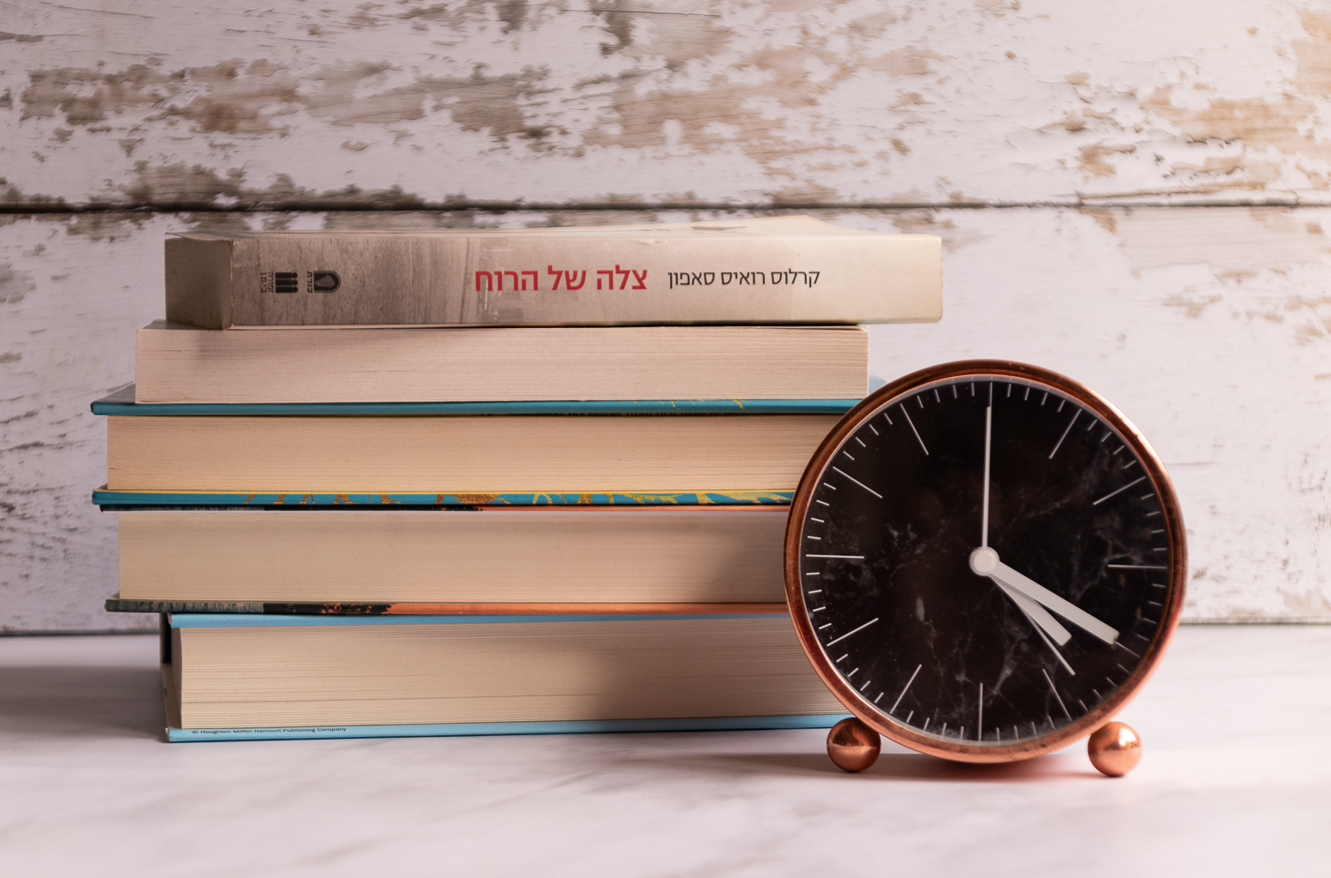 books with clock (1 of 1)